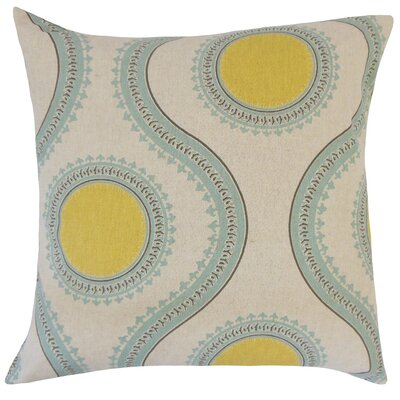 Castlebourne Graphic Floor Pillow Color: Laken