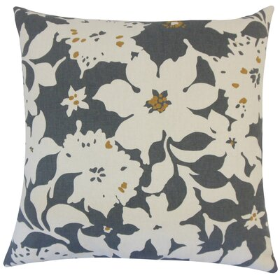 Lavina Floral Floor Pillow Color: Charcoal