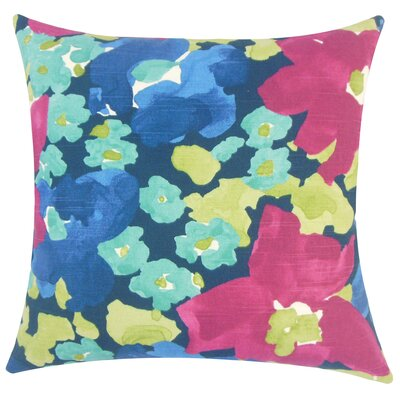 Paulette Floral Floor Pillow Color: Fuchsia