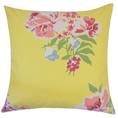 Pauline Floral Floor Pillow Color: Daffodil