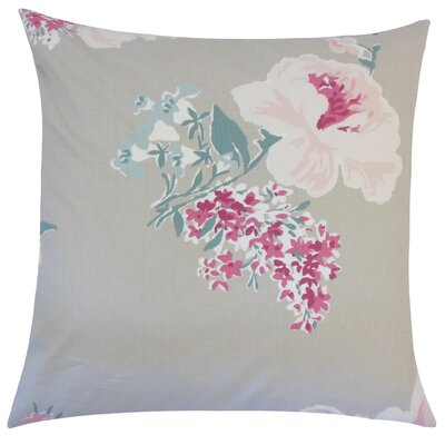 Pauline Floral Floor Pillow Color: Oyster