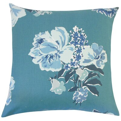 Pauline Floral Floor Pillow Color: Pool