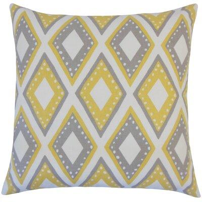 Heckstall Geometric Floor Pillow Color: Dandelion