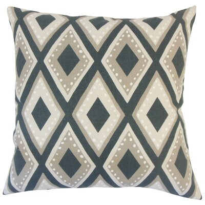 Heckstall Geometric Floor Pillow Color: Ink