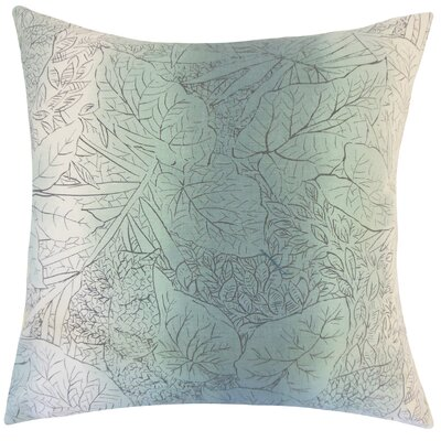 Irwin Floral Floor Pillow Color: Cove