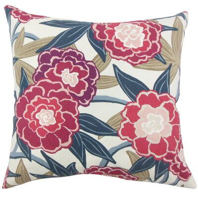 Dazelle Floral Floor Pillow Color: Berry