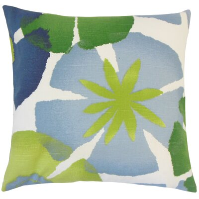 Frierson Floral Floor Pillow Color: Leaf