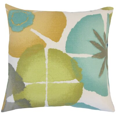 Frierson Floral Floor Pillow Color: Pool