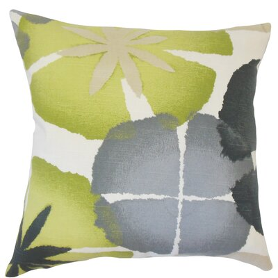 Frierson Floral Floor Pillow Color: Gray