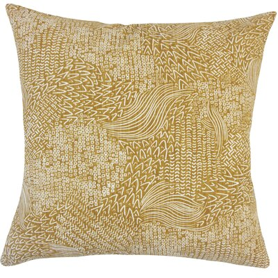 Hedberg Geometric Floor Pillow Color: Amber