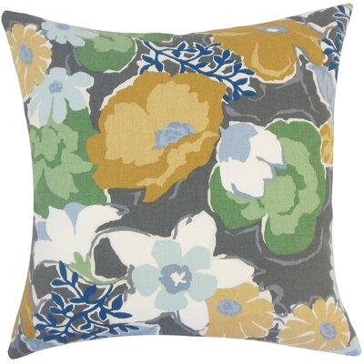 Duarte Floral Floor Pillow Color: Gray