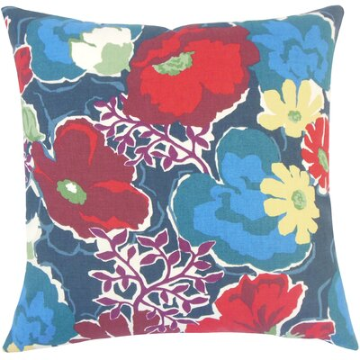 Duarte Floral Floor Pillow Color: Poppy