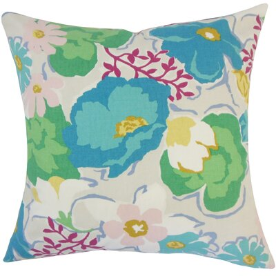 Duarte Floral Floor Pillow Color: Turquoise
