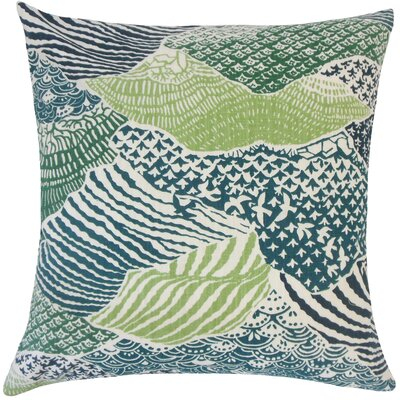 Galen Ikat Floor Pillow Color: Palm