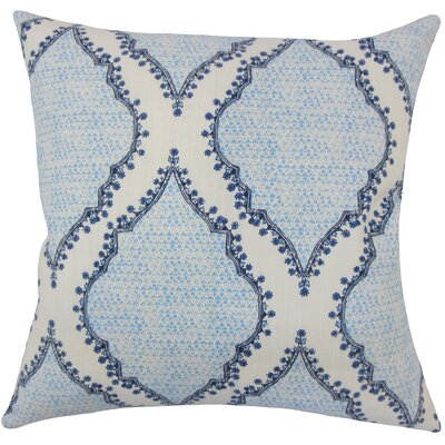 Alyn Heiner Ikat Floor Pillow Color: Blue