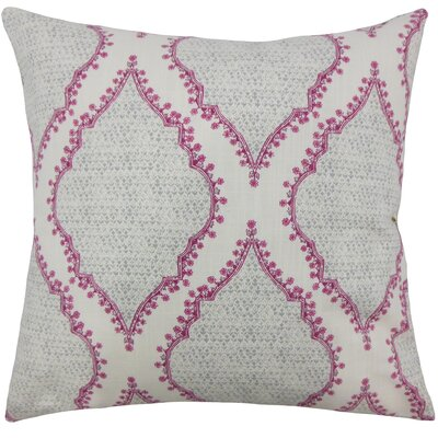 Alyn Heiner Ikat Floor Pillow Color: Gray