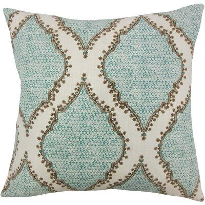Alyn Heiner Ikat Floor Pillow Color: Peacock