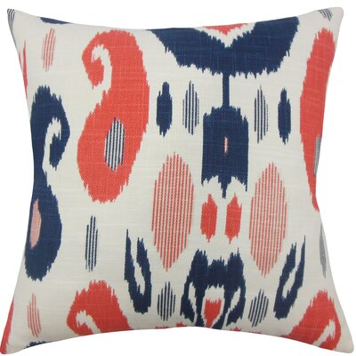 Broxburne Ikat Floor Pillow Color: Lapis