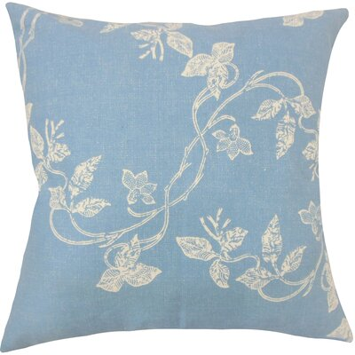 Pesina Floral Floor Pillow Color: Chambray