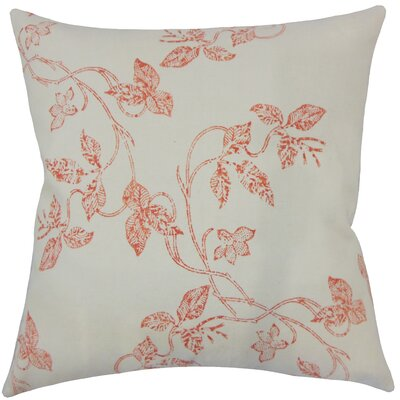Pesina Floral Floor Pillow Color: Pepper