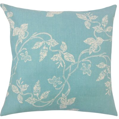 Pesina Floral Floor Pillow Color: Turquoise
