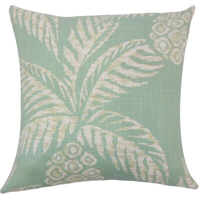 Dayana Floral Floor Pillow Color: Aqua
