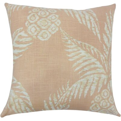 Dayana Floral Floor Pillow Color: Blush