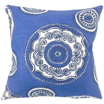 Carlene Floral Floor Pillow Color: Blue