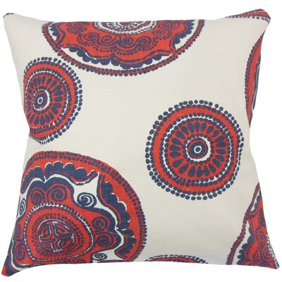Carlene Floral Floor Pillow Color: Lapis
