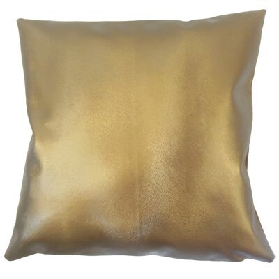Dungan Solid Brown Floor Pillow