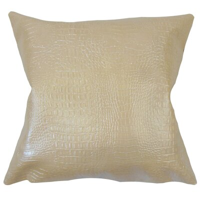 Hartig Solid Tan Floor Pillow