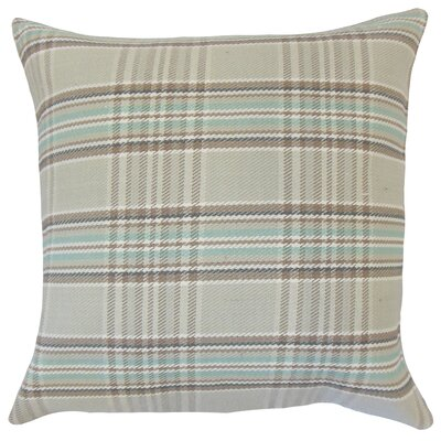 Joanna Plaid Floor Pillow Brown Color: Brown