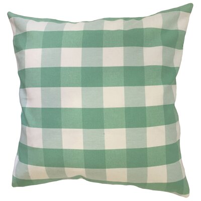 Montreuil Plaid Floor Pillow Color: Green