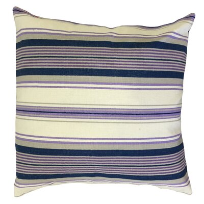 Ilona Striped Down Filled 100% Cotton Throw Pillow Size: 22 x 22, Color: Purple