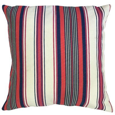 Randell Striped Floor Pillow Color: Blue/Red