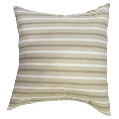 Arnott Striped Floor Pillow Color: Tan