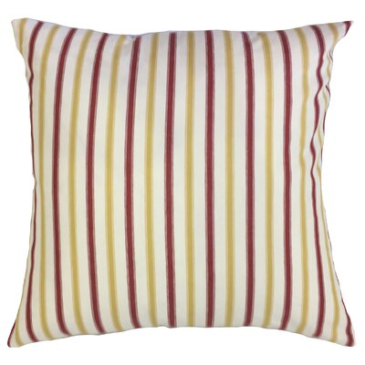Arnott Striped Floor Pillow Color: Yellow/Red