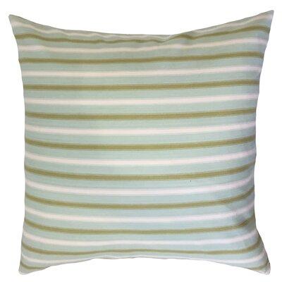 India Striped Down Filled 100% Cotton Throw Pillow Size: 18 x 18, Color: Blue/Green