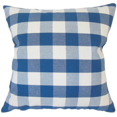 Lopes Plaid Down Filled 100% Cotton Lumbar Pillow