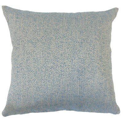 Tanuja Woven Down Filled 100% Cotton Throw Pillow Size: 22 x 22, Color: Blue