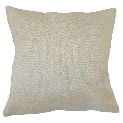 Efigenia Woven Floor Pillow Color: Tan