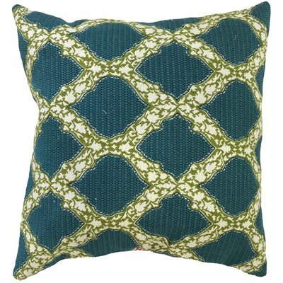 Albina Geometric Floor Pillow Color: Aqua/Green