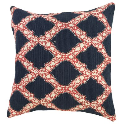 Albina Geometric Floor Pillow Color: Indigo