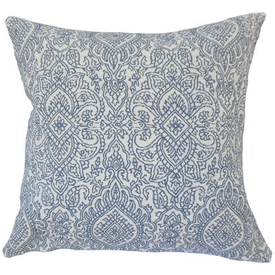 Corte Madera Damask Down Filled 100% Cotton Lumbar Pillow Color: Lapis