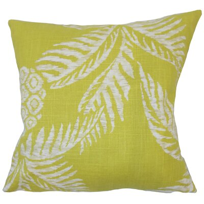 Dre Floral Down Filled 100% Cotton Throw Pillow Size: 20 x 20, Color: Peridot