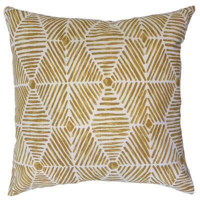 Vamo Geometric Down Filled 100% Cotton Throw Pillow Size: 24 x 24, Color: Gold