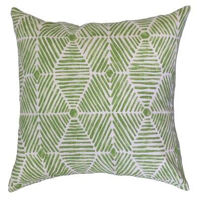 Downen Geometric Floor Pillow Color: Kiwi