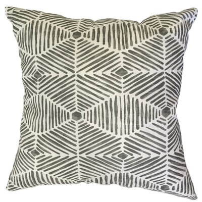 Vamo Geometric Down Filled 100% Cotton Lumbar Pillow Color: Gray