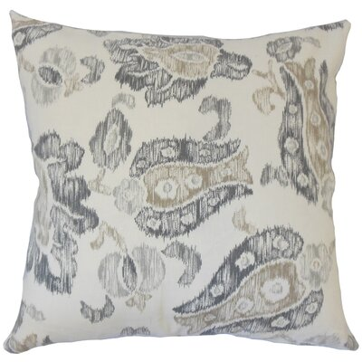 La Mesa Ikat Down Filled 100% Cotton Throw Pillow Size: 24 x 24, Color: Gray
