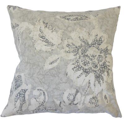 Arcene Floral Floor Pillow Color: Dove